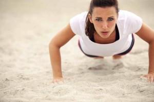 Chica flexiones