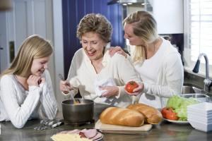 Cocinar familia